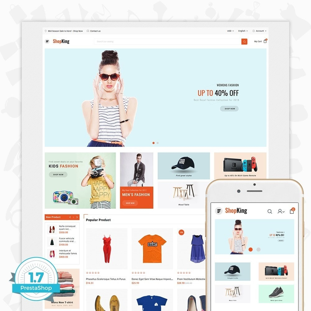 theme - Mode & Chaussures - ShopKing - The Fashion Store - 1