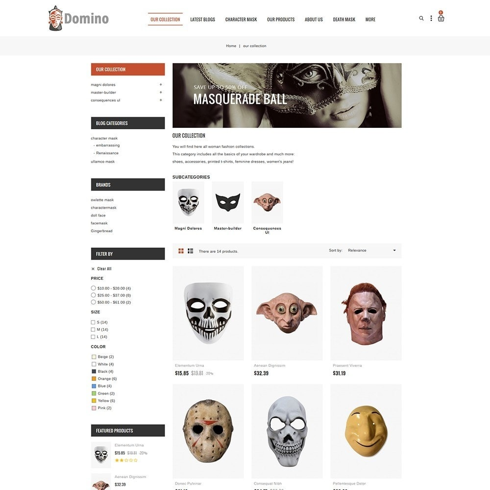 theme - Fashion & Shoes - Domino Mask Store - 4