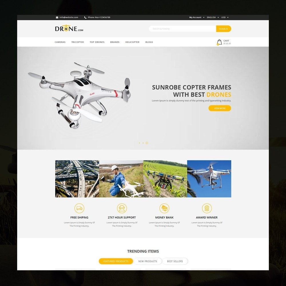 theme - Elektronika & High Tech - Drone - Online Store - 2