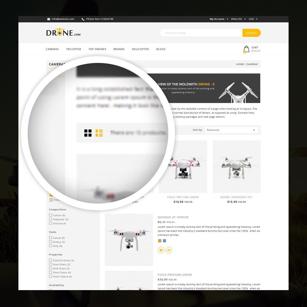 theme - Electronics & Computers - Drone - Online Store - 3