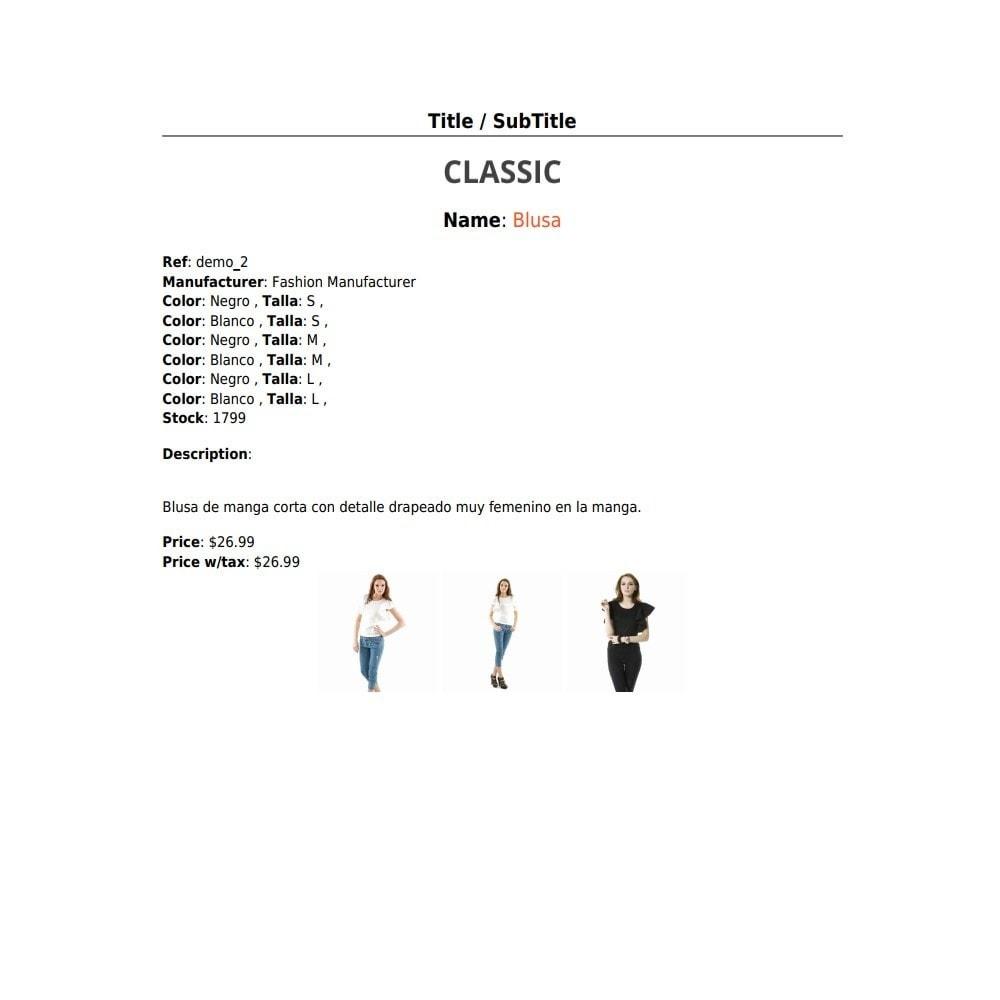 module - Import & Export de données - RSI PDF/HTML catalog  evolution - 4
