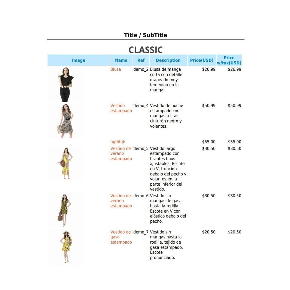 module - Import & Export de données - RSI PDF/HTML catalog  evolution - 8