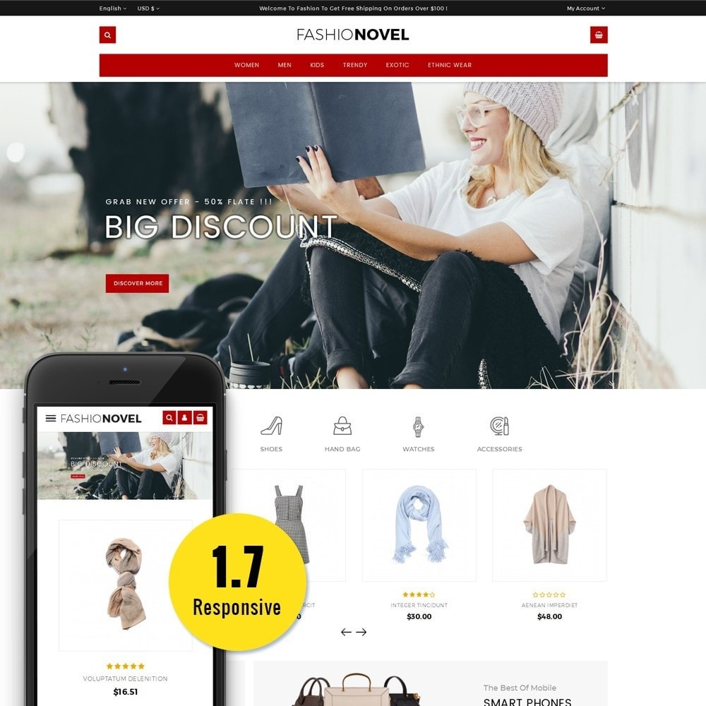 theme - Mode & Chaussures - Fashionovel Store - 1