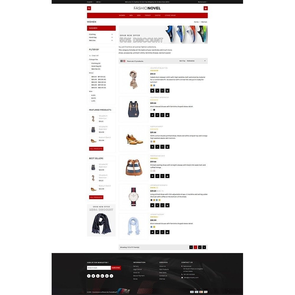 theme - Mode & Chaussures - Fashionovel Store - 4