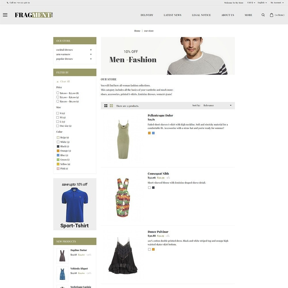 theme - Moda & Calzature - Fragment Fashion Shop - 5