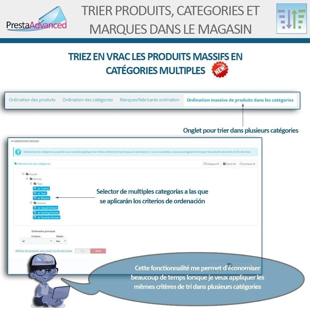 module - Personnalisation de Page - Tri de produits, catégories et marques dans le magasin - 9