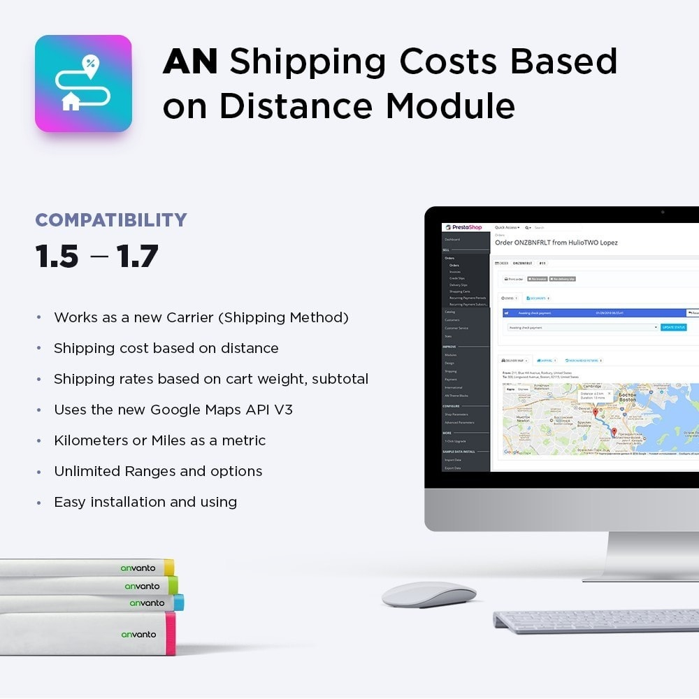 module - Стоимость доставки - Shipping Costs Based on Distance - 1