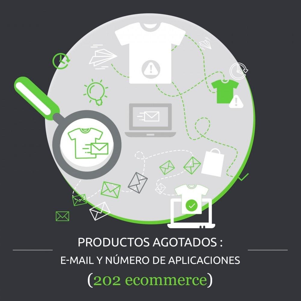 module - Gestión de Stock y de Proveedores - Productos Agotados : e-mail y número de aplicaciones - 1