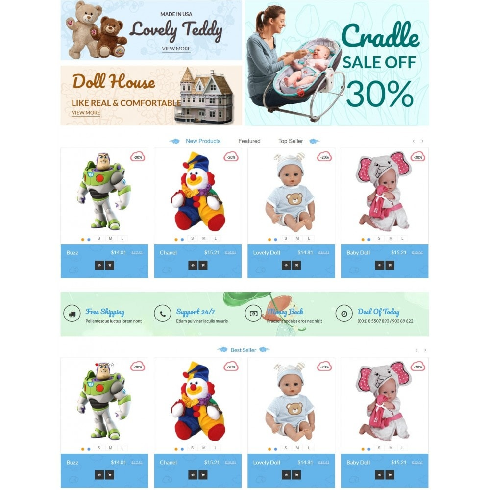 theme - Enfants & Jouets - Baby - Kids & Children Store - 2