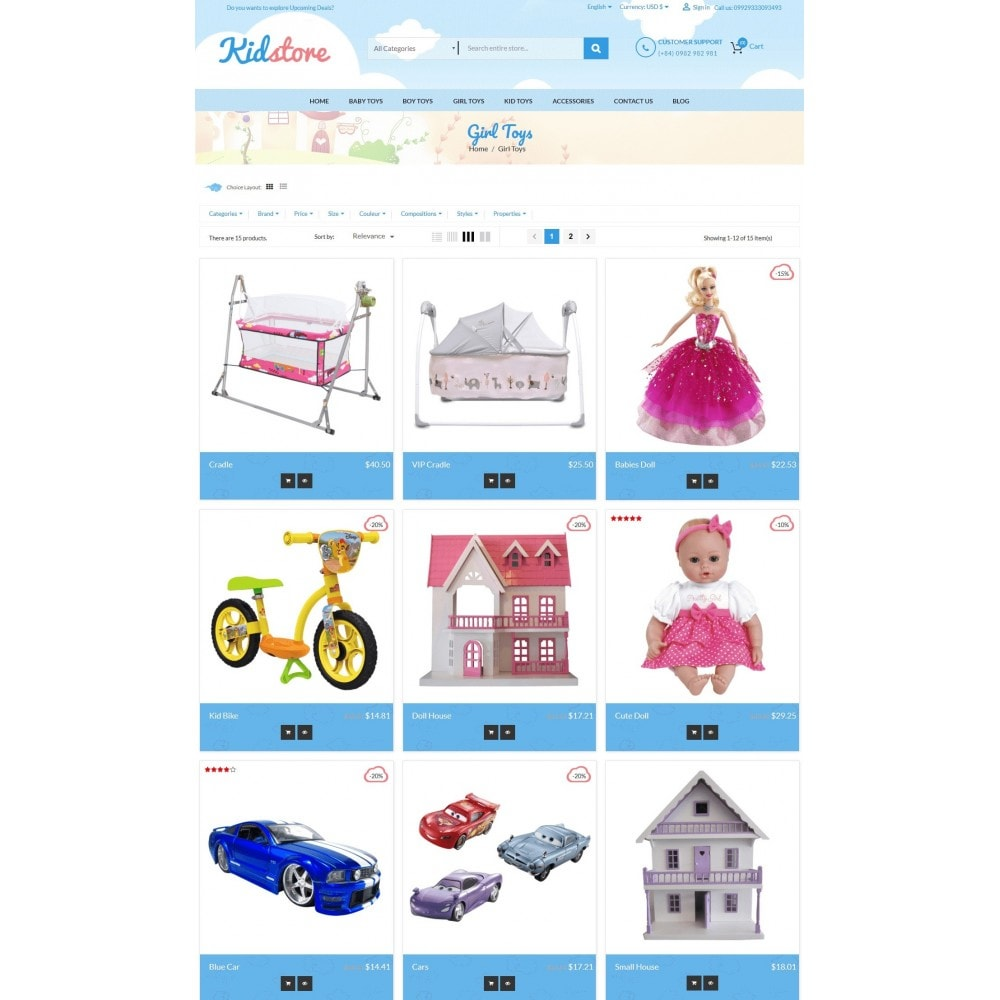 theme - Enfants & Jouets - Baby - Kids & Children Store - 3