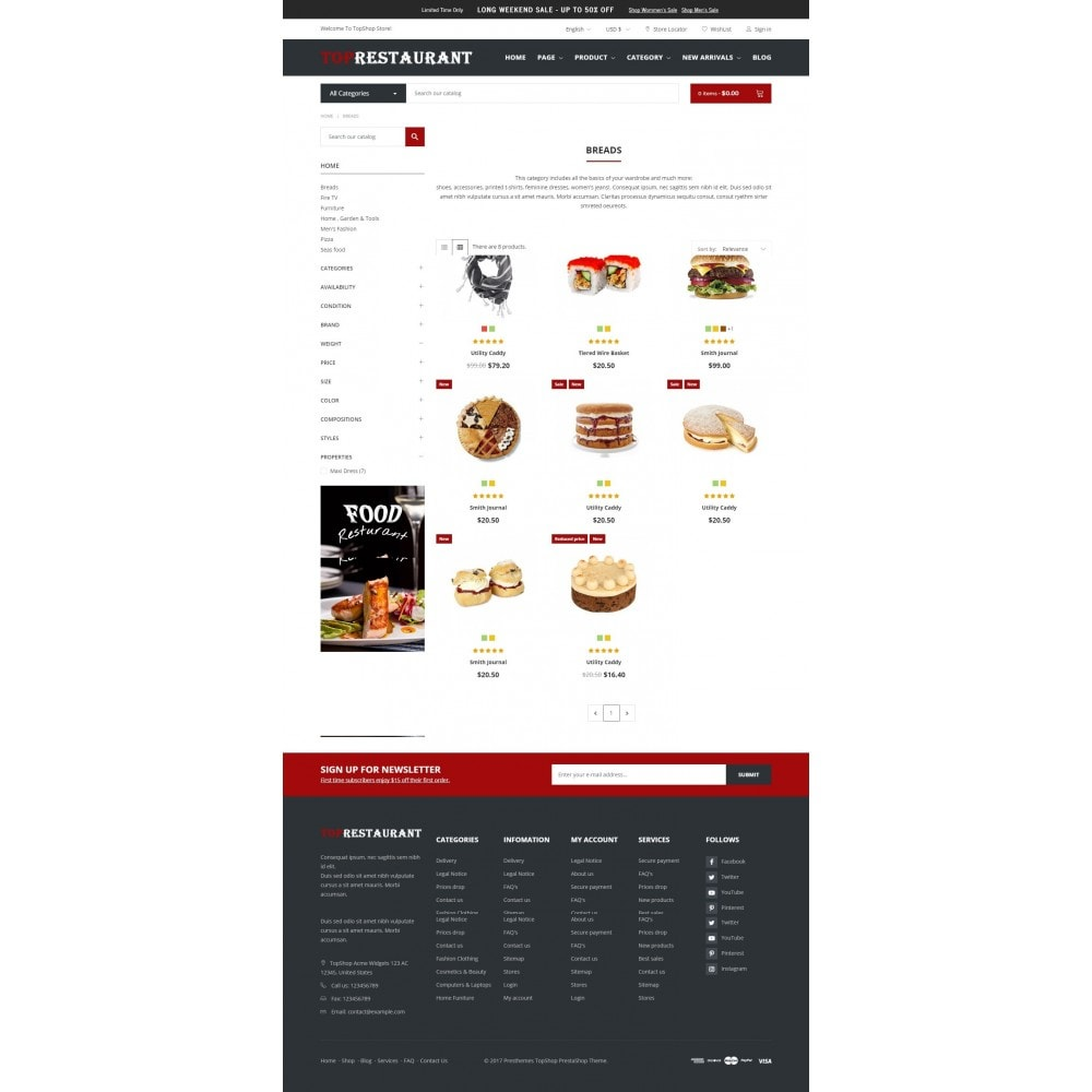 Alimentation et restauration - Topshop