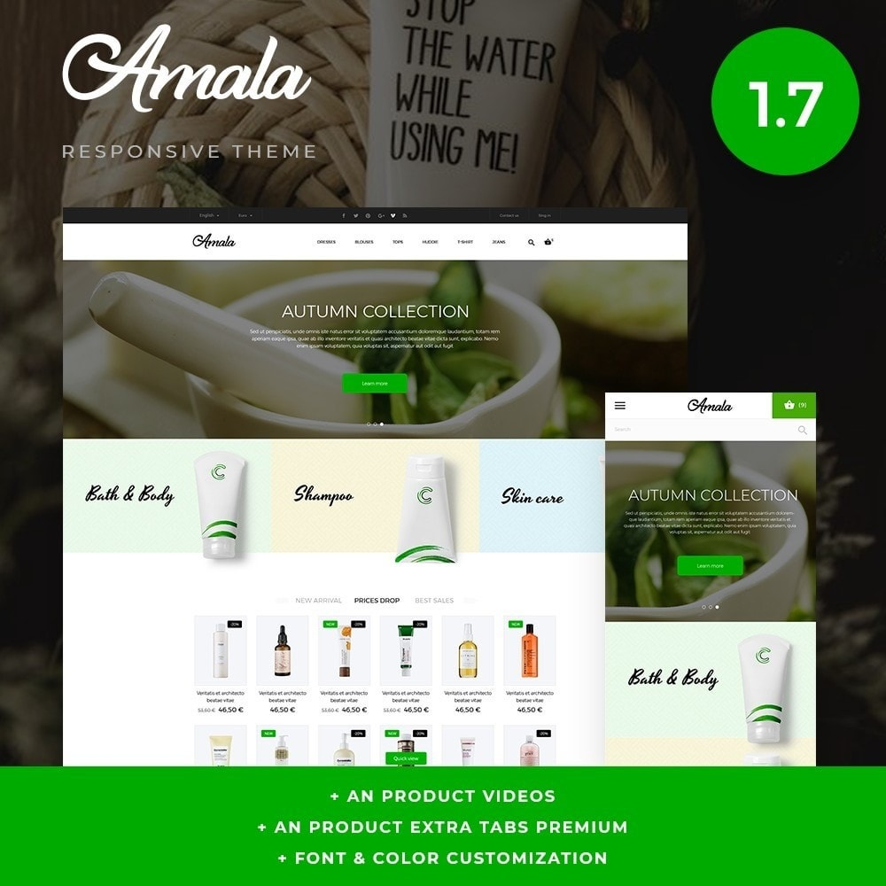 theme - Health & Beauty - Amala Cosmetics - 1