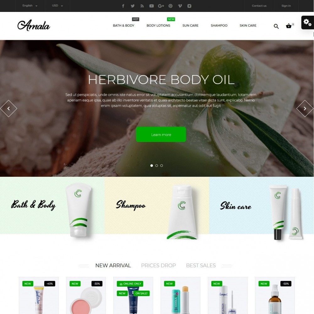 theme - Health & Beauty - Amala Cosmetics - 2