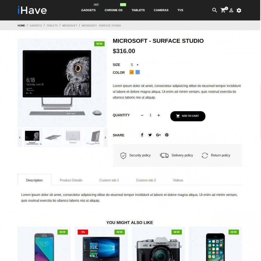 theme - Eletrônicos & High Tech - iHave - High-tech Shop - 6