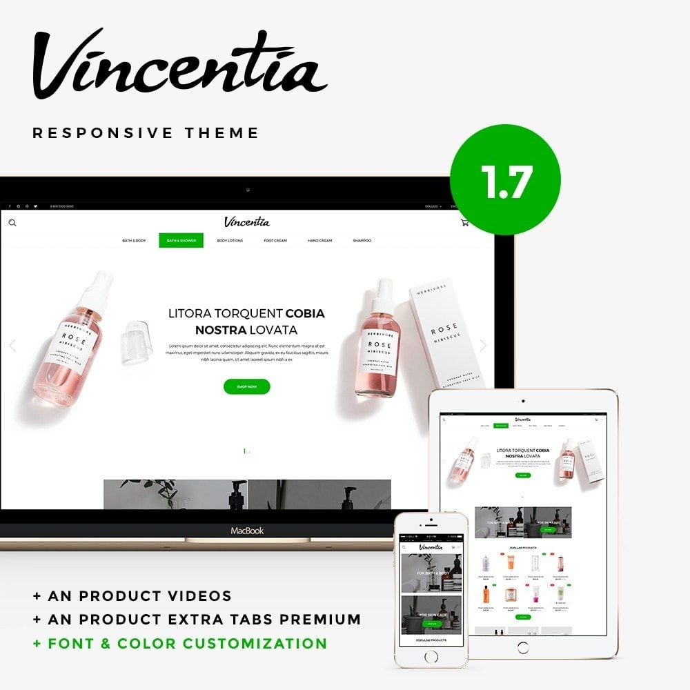 theme - Health & Beauty - Vincentia Cosmetics - 1