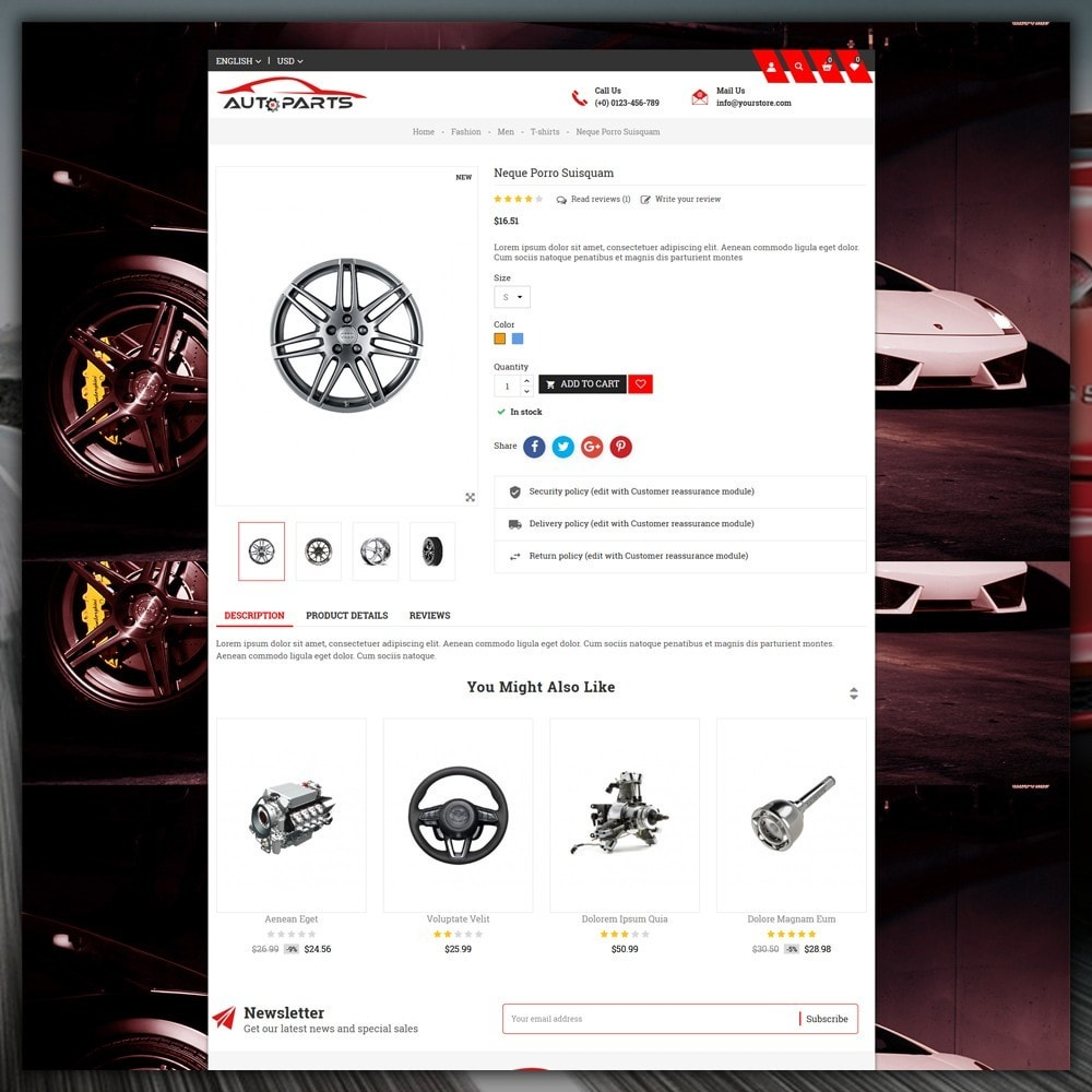 theme - Automotive & Cars - Auto Parts Store - 6