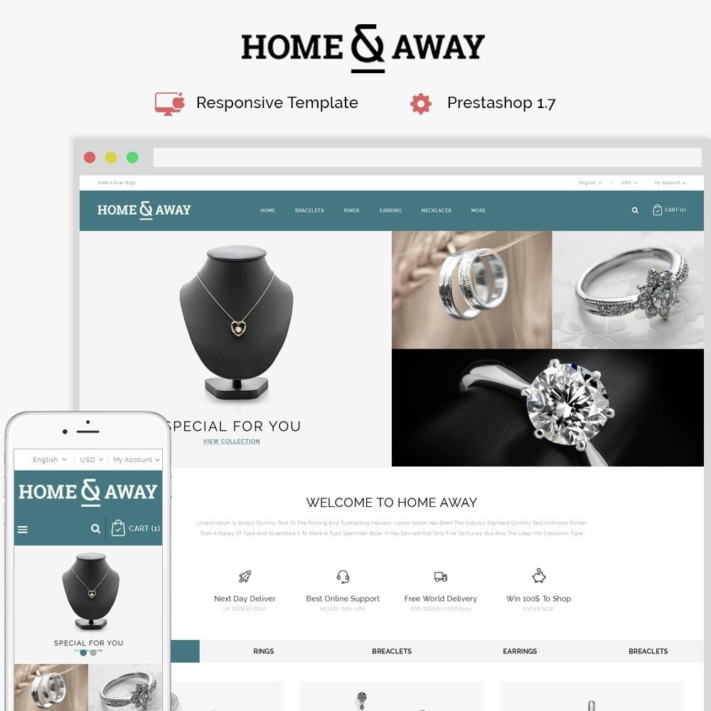 theme - Schmuck & Accesoires - Homeaway Jewelry Store - 1