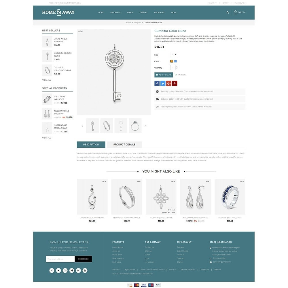 theme - Schmuck & Accesoires - Homeaway Jewelry Store - 5