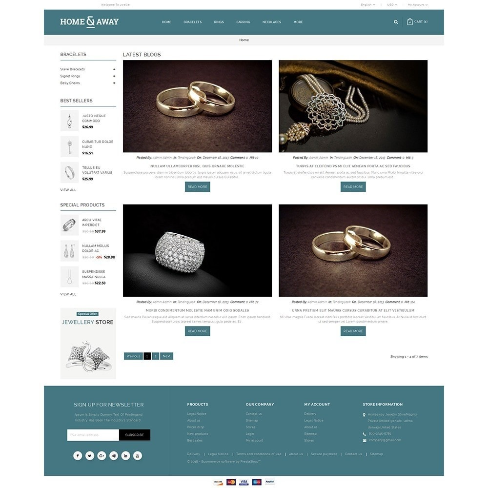 theme - Schmuck & Accesoires - Homeaway Jewelry Store - 8