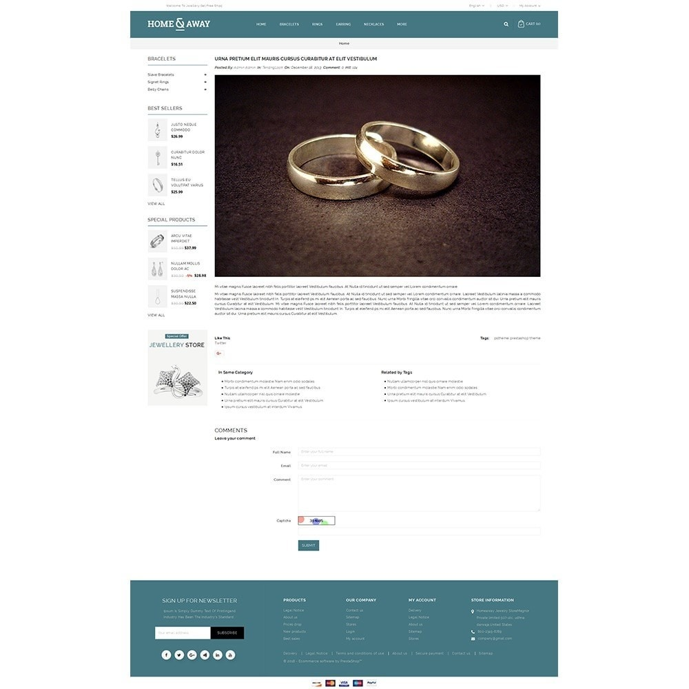 theme - Schmuck & Accesoires - Homeaway Jewelry Store - 9