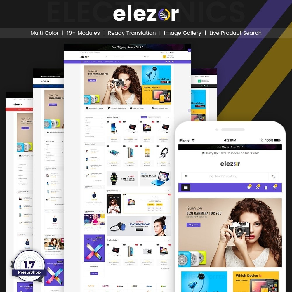 theme - Elektronik & High Tech - Elezor – Electronic Super Store v3 - 1