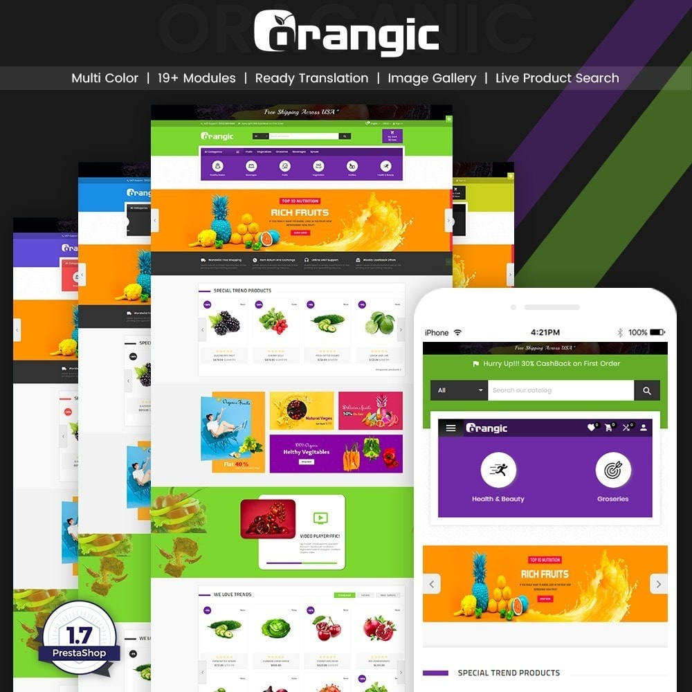 theme - Food & Restaurant - Orangic – Fresh Green Foods Super Store - 1