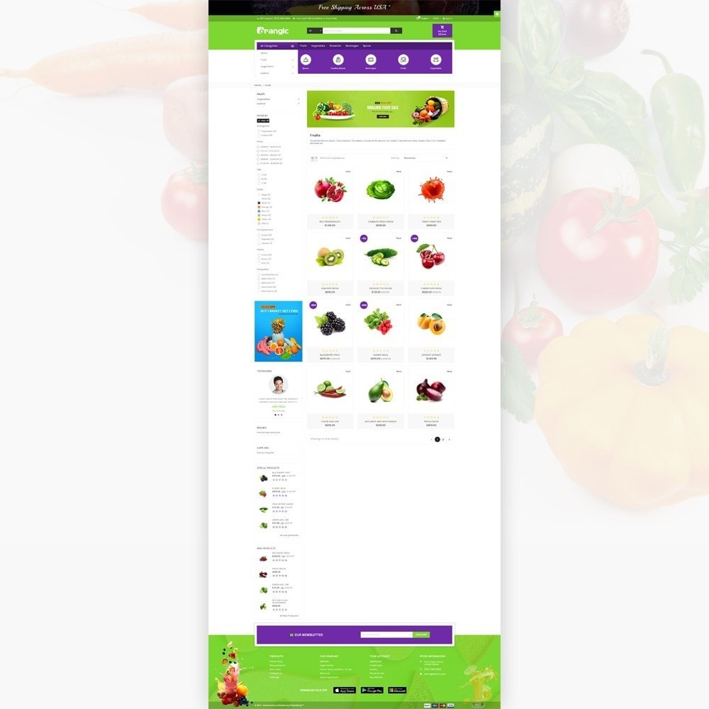theme - Food & Restaurant - Orangic – Fresh Green Foods Super Store - 3