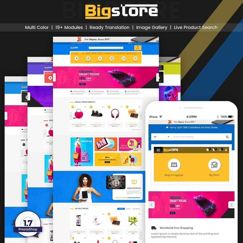 theme - Электроника и компьютеры - Big Super Store - Mega Electronic and Fashion - 2