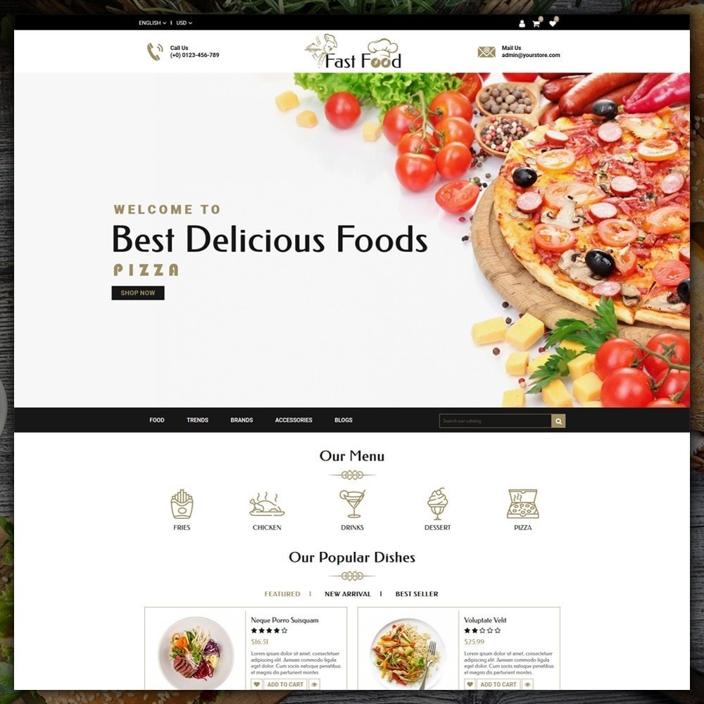 theme - Alimentation & Restauration - Fast Food Shop - 2