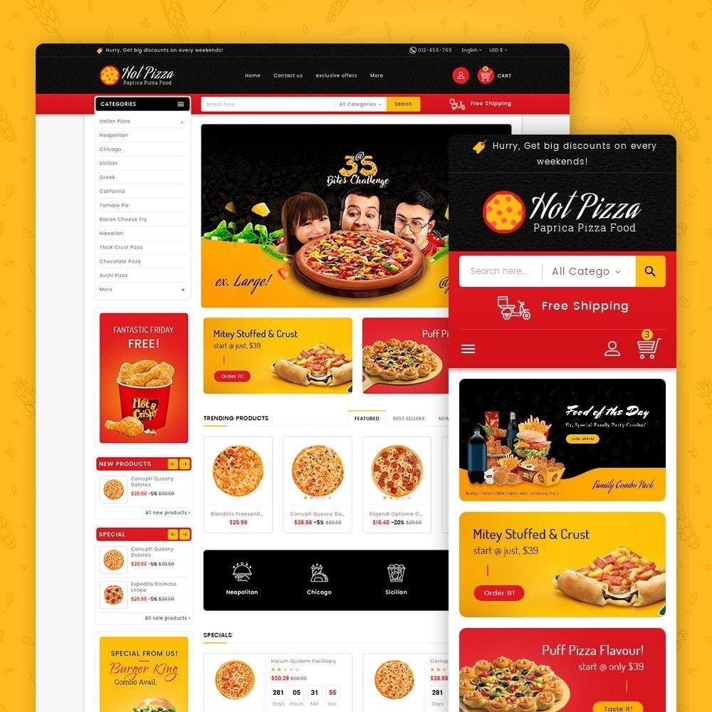 theme - Lebensmittel & Restaurants - Paprika Pizza - Fast Food - 1