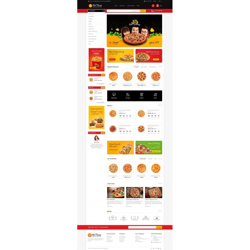 theme - Lebensmittel & Restaurants - Paprika Pizza - Fast Food - 2