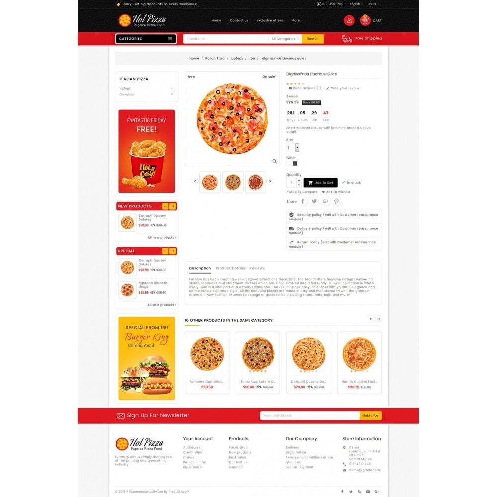 theme - Lebensmittel & Restaurants - Paprika Pizza - Fast Food - 5
