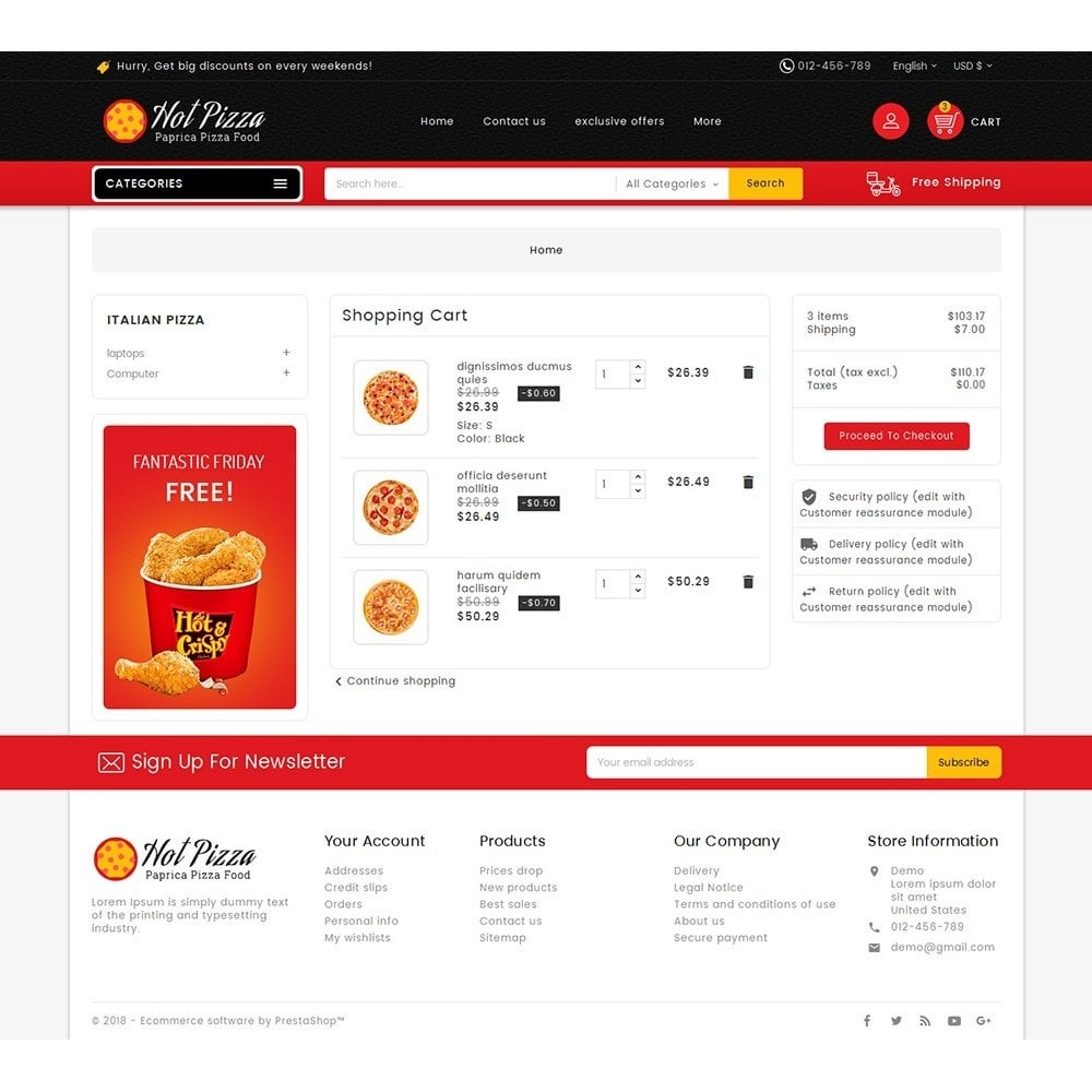 theme - Food & Restaurant - Paprika Pizza - Fast Food - 6