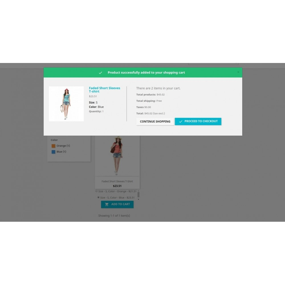 module - Deklinacje & Personalizacja produktów - Show attributes / List pages add to cart combination - 13