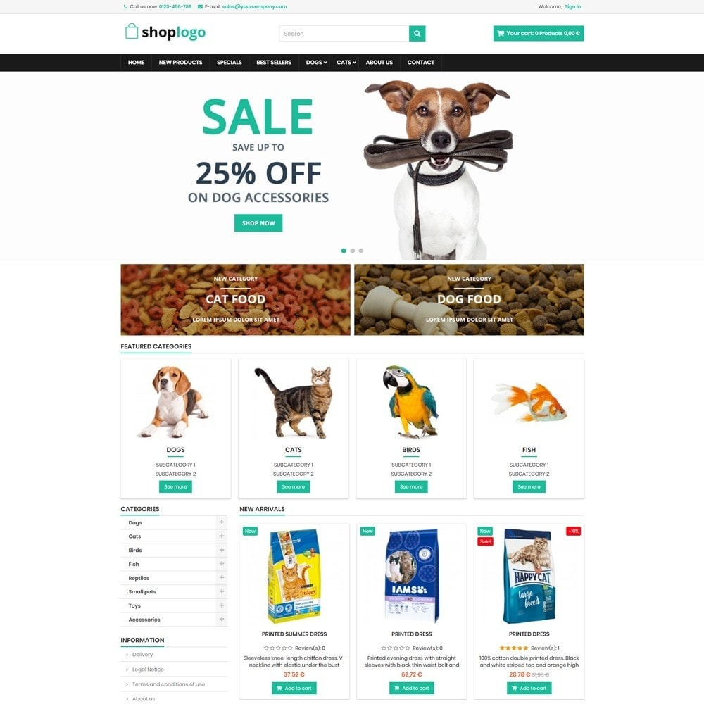 theme - Animaux - P16AT13 Animals food and accessories store - 1