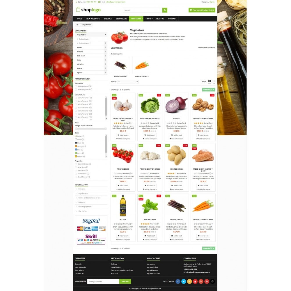 theme - Alimentos & Restaurantes - P16AT14 Food store - 3