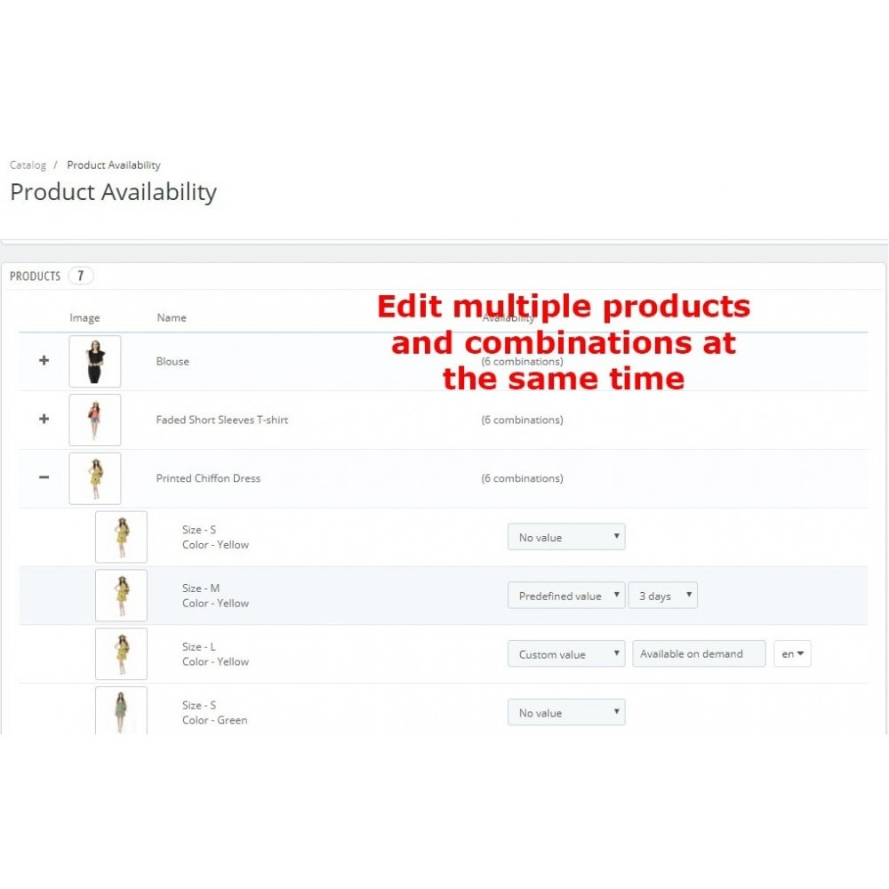 module - Additional Information & Product Tab - Product Availability - 4