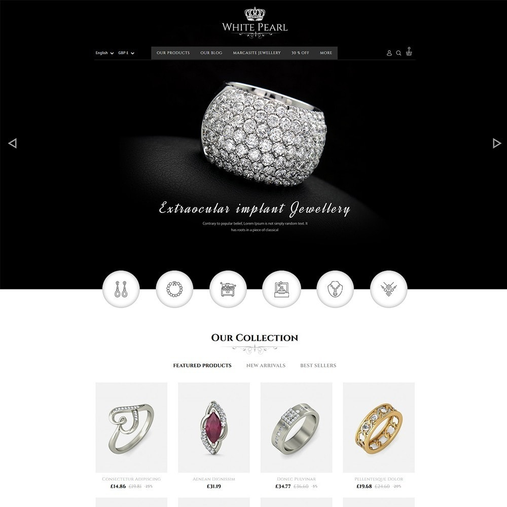 White pearl Jewellery Shop