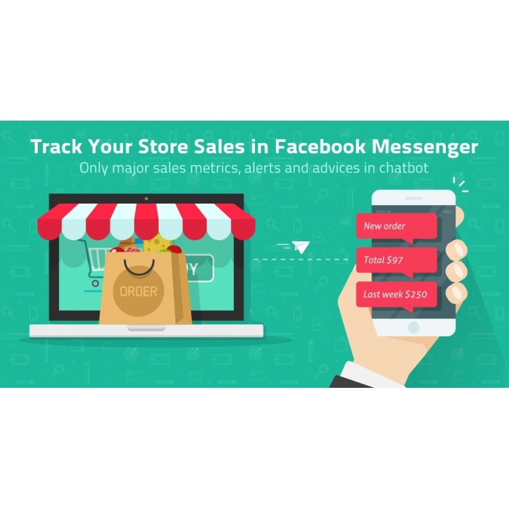 module - E-Mails & Benachrichtigungen - Track Store Sales in FB Messenger or Telegram Chatbot - 2