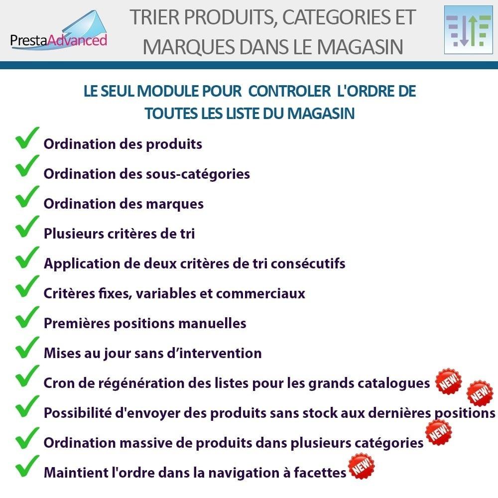 module - Personnalisation de Page - Tri de produits, catégories et marques dans le magasin - 2