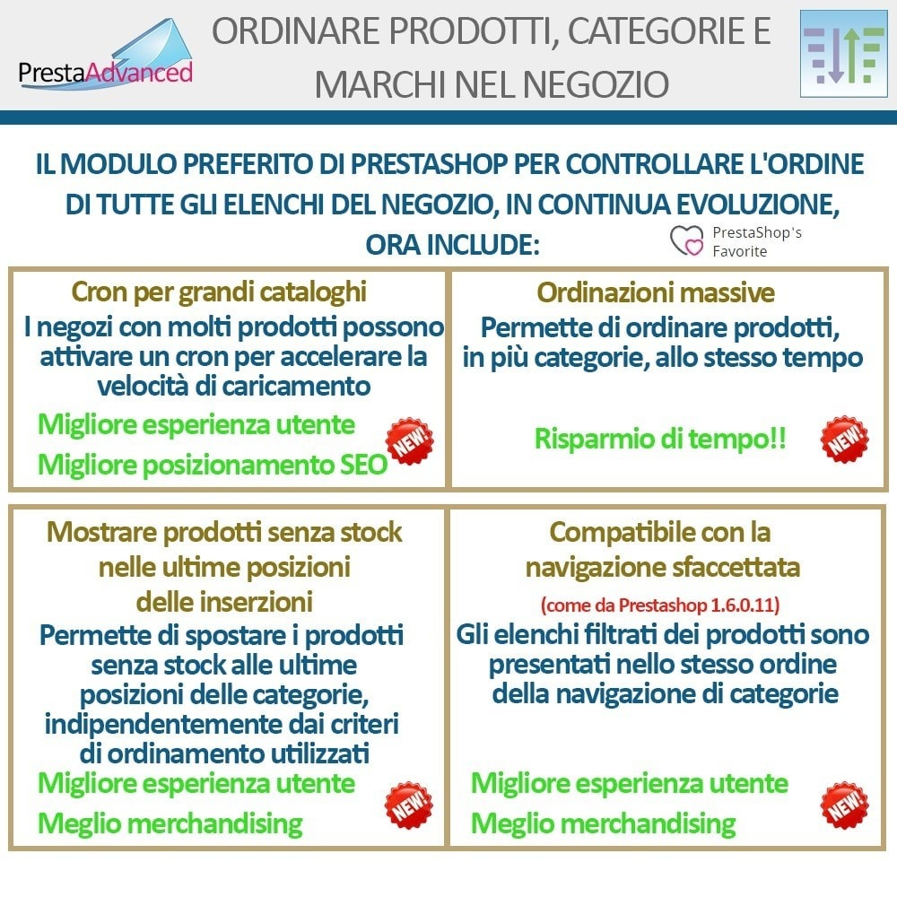 module - Personalizzazione pagine - Ordinamento di prodotti, categorie e marchi nel negozio - 3