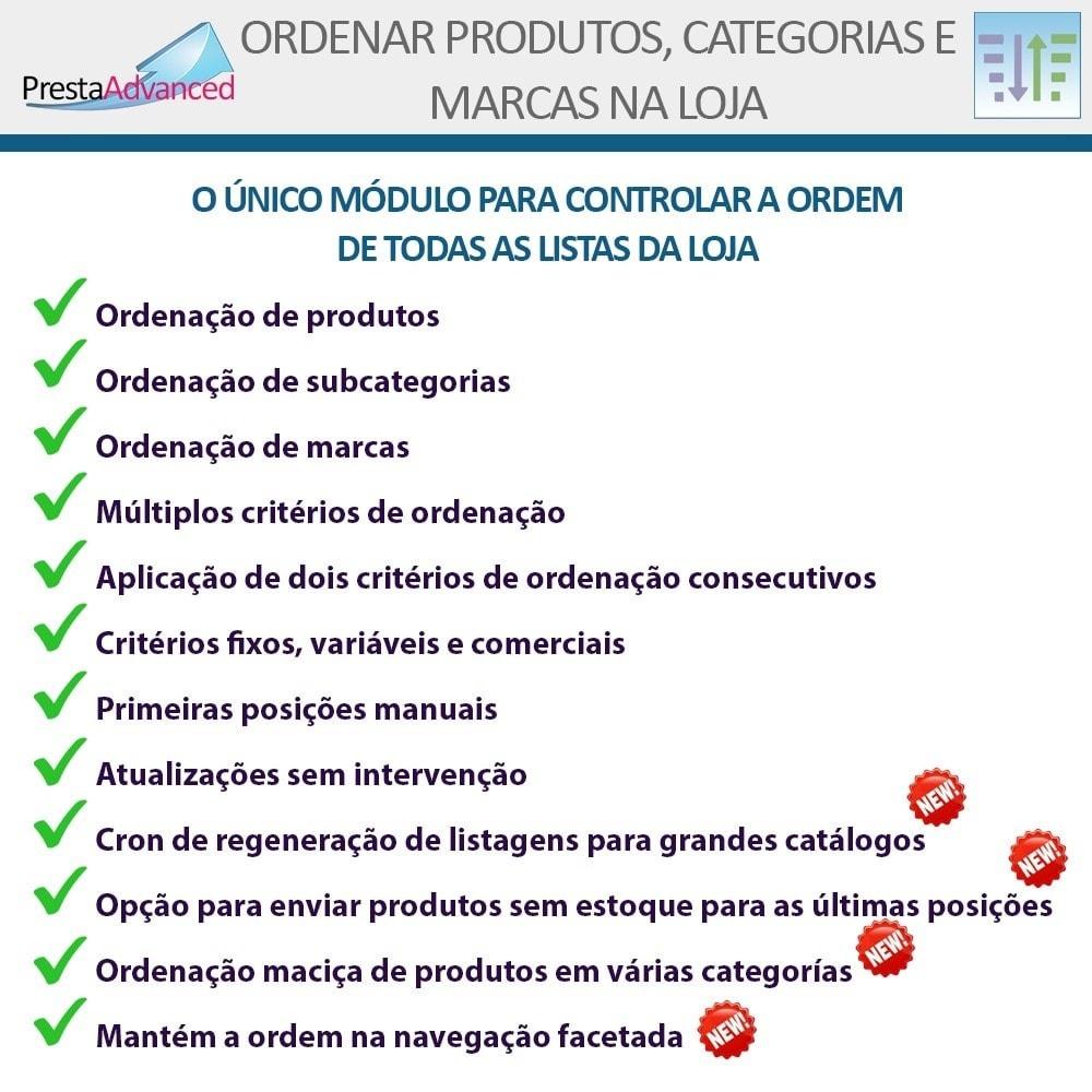 module - Personalização de página - Ordenar produtos, categorias e marcas na loja - 2