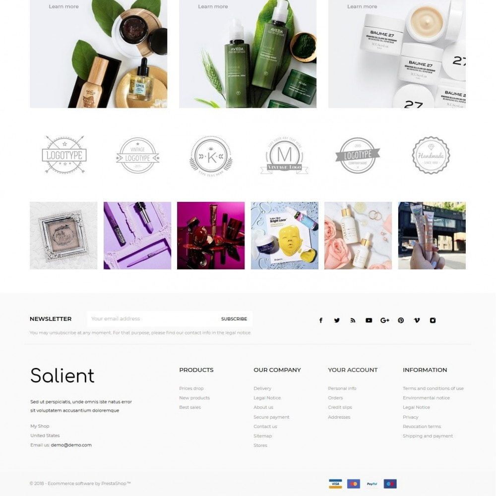 theme - Saúde & Beleza - Salient Cosmetics - 4