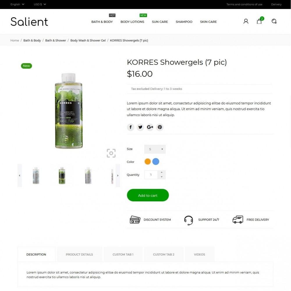 theme - Здоровье и красота - Salient Cosmetics - 5