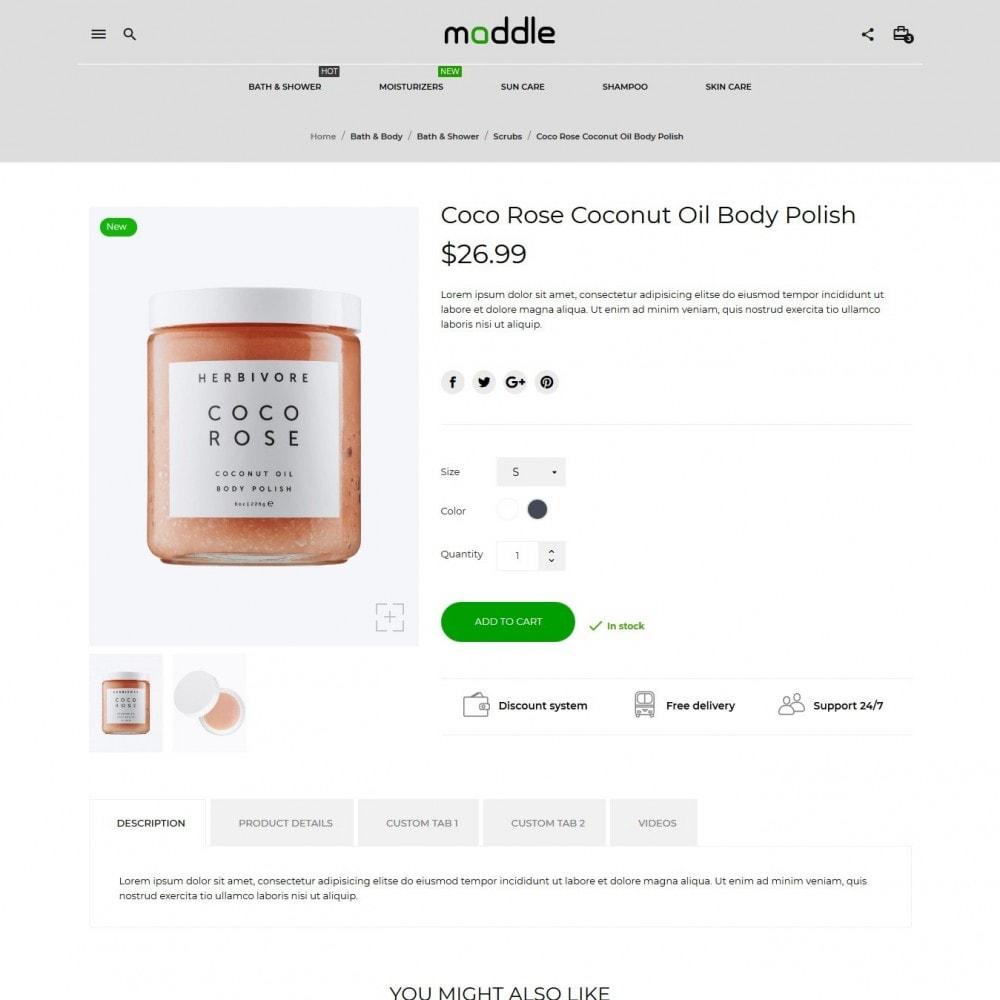 theme - Health & Beauty - Maddle Cosmetics - 6