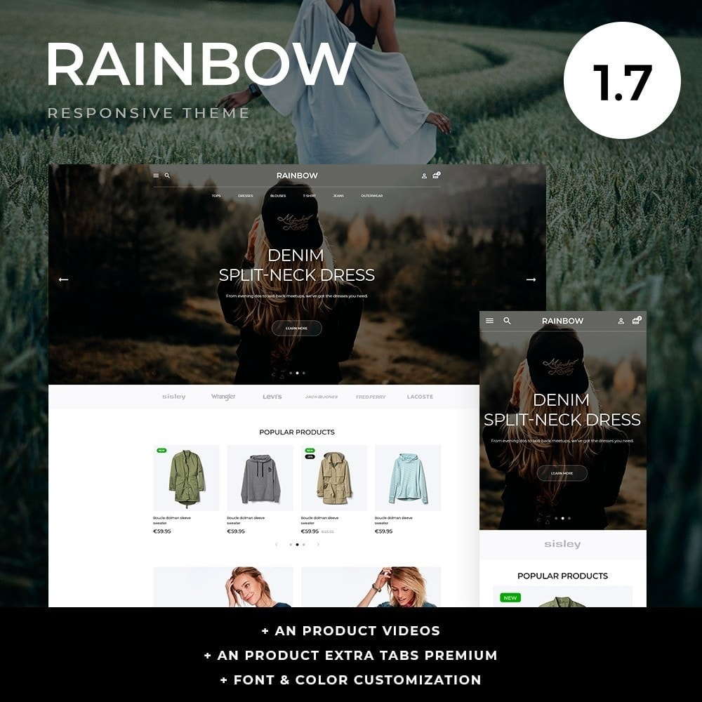 theme - Мода и обувь - Rainbow Fashion Store - 1