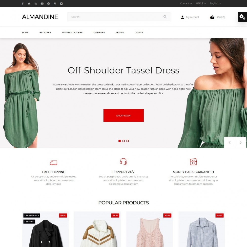 theme - Мода и обувь - Almandine Fashion Store - 2
