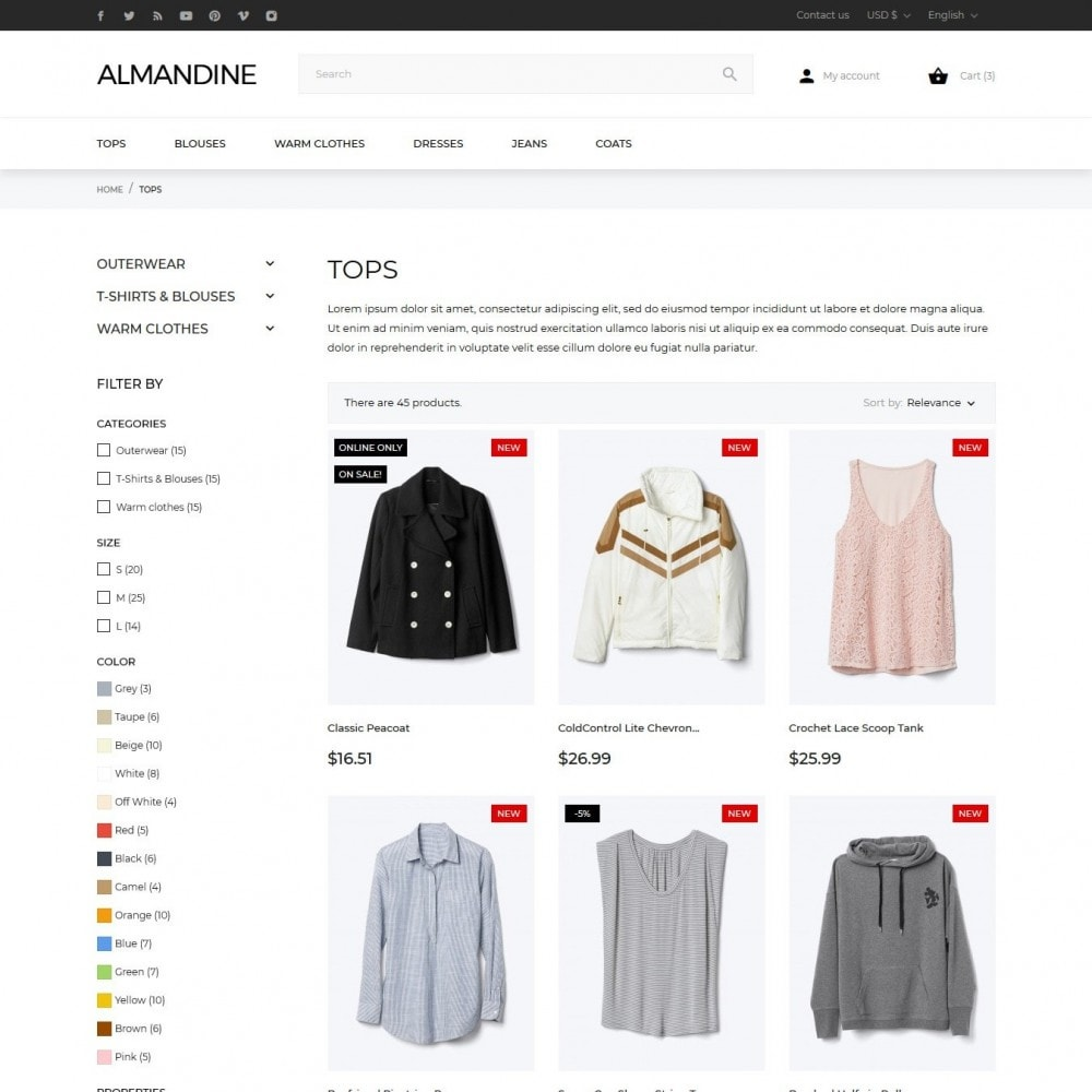 theme - Mode & Chaussures - Almandine Fashion Store - 6