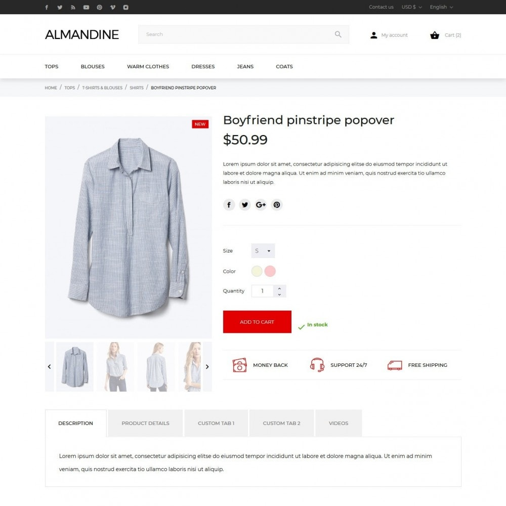 theme - Мода и обувь - Almandine Fashion Store - 7