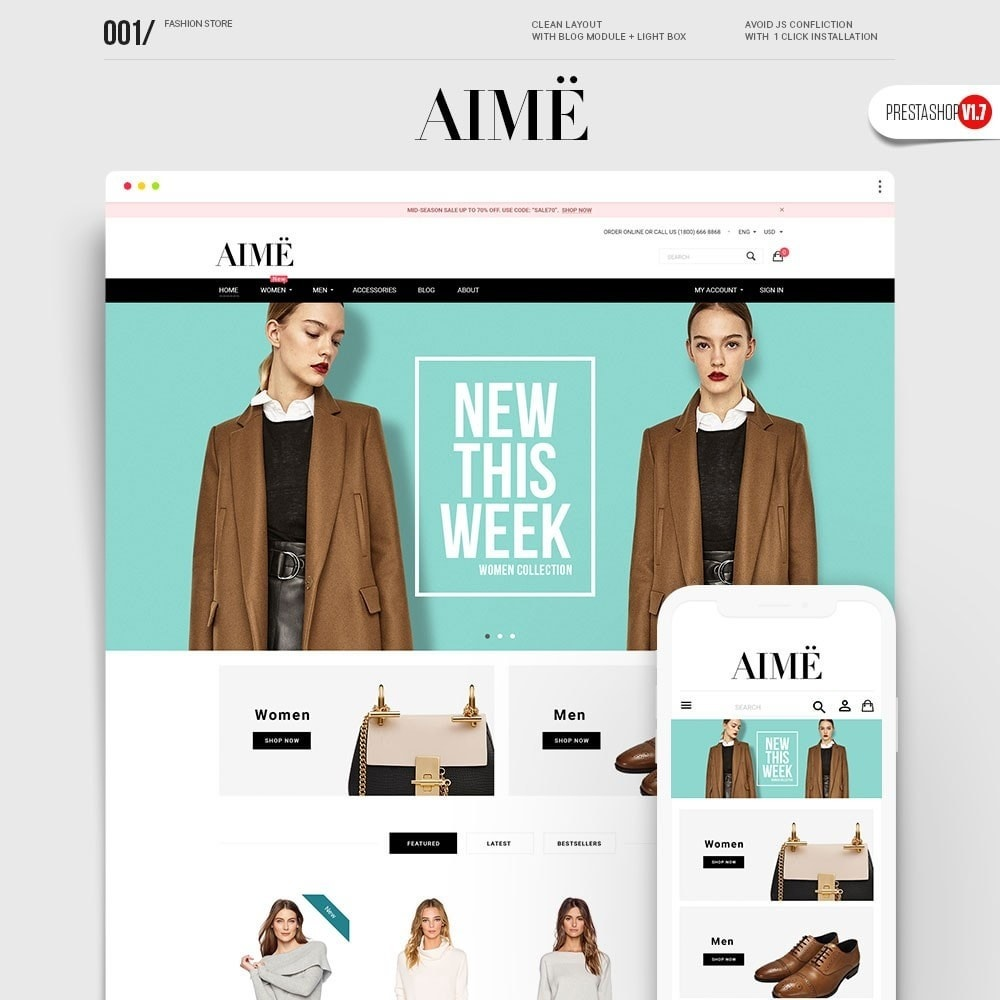 theme - Fashion & Shoes - Aime Fashion - 1